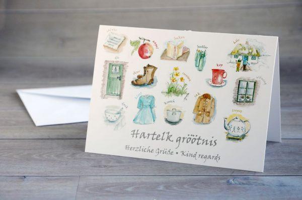 Friesische-Grusskarte-Haus und Hof_100122
