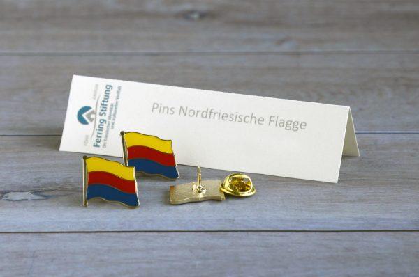 Pin Nordfriesische Flagge Fahne 100125